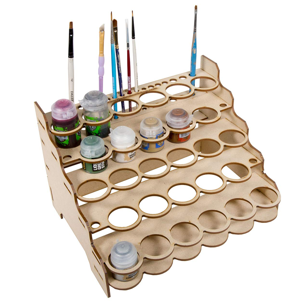 The Broken Token Modular Paint Rack (Straight 35mm Holes) by The Broken Token
