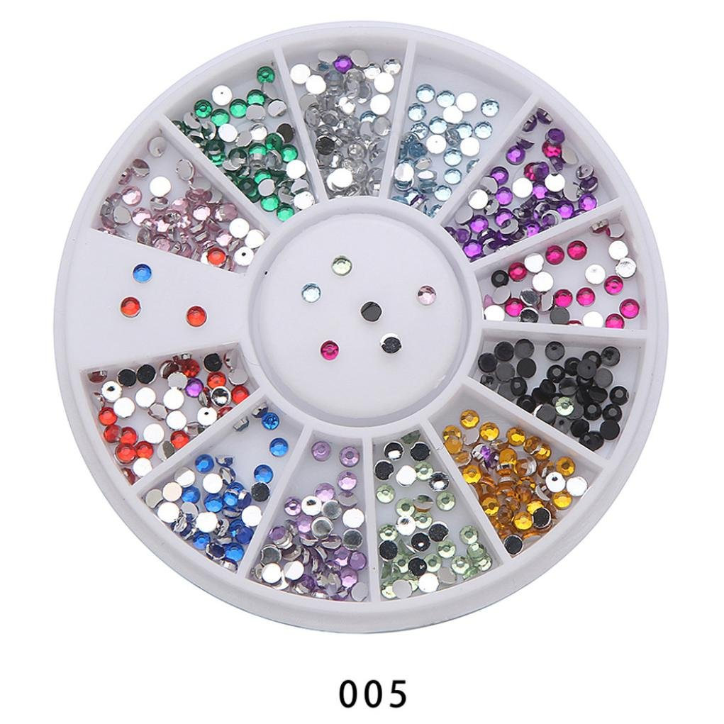 Amazon.com : Clearance Sale! Nail Art Stickers Tips for Teen Girls Women, Iuhan Nail Art Rhinestones Glitters Acrylic Tips Decoration Manicure Nail Drills ...