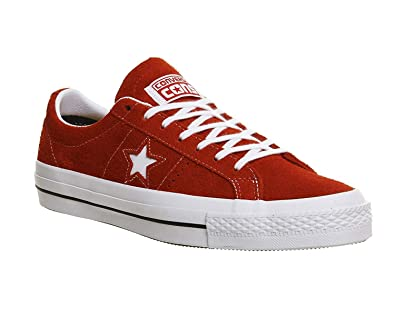c89012c1685a Converse Men s One Star OX Red White Gum Skateboarding Shoes 153063C (US  11.5