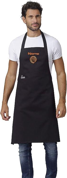 Siggi Horeca Grembiule Masterchef Italia Ufficiale - Originale - Unisex - Con Ricamo Nome Personalizzato - Idea Regalo