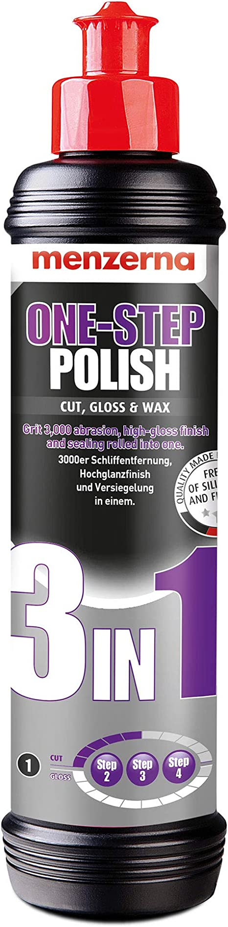 Amazon Fr Menzerna One Step Polish Cut Pâte à Polir 3 En 1 Gloss Wax 250 Ml