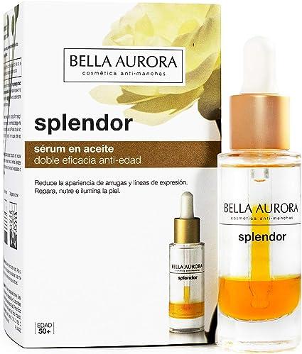 Bella Aurora Serum Facial Hidratante en Aceite Anti-Edad y Anti-Arrugas, Repara y Previene el Envejecimiento, con Ginseng Rojo y Aceite de Camelia, ...