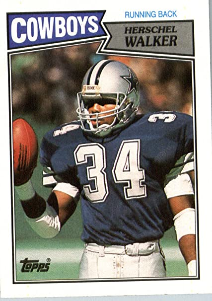 1987 Topps # 264 Herschel Walker Dallas Cowboys Football ROOKIE Card- Near  Mint to Mint Condition - In Protective Screwdown Display Case! at Amazon's  Sports Collectibles Store