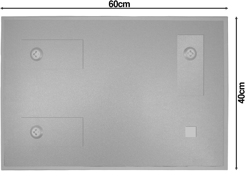 BANJADO Glas Magnettafel mit 4 Magneten Magnetboard gro/ß mit Motiv Bunte Glasbausteine Memoboard beschreibbar perfekt f/ür die K/üche Magnetwand 45x30cm gro/ß
