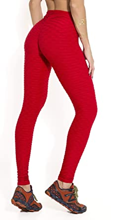 e34c3f70ef147 Canoan Brazilian Legging - Anti Cellulite Honeycomb Textured Scrunch ...