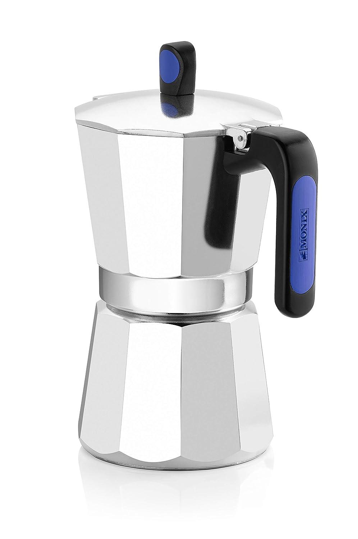 Monix Induction Express - Cafetera italiana inducción, aluminio, capacidad 6 tazas, color plata