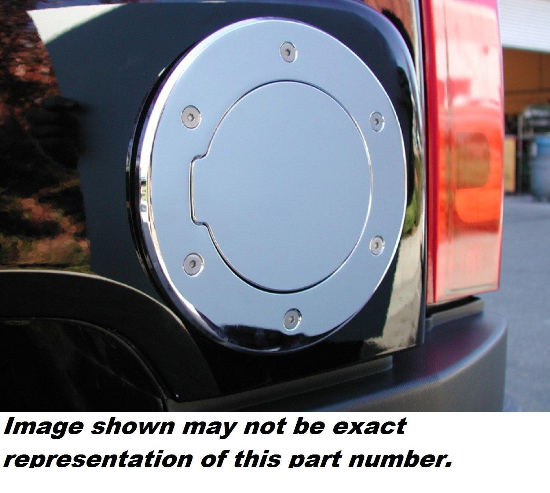 All Sales 6097CL Chrome Billet Aluminum Locking Fuel Door