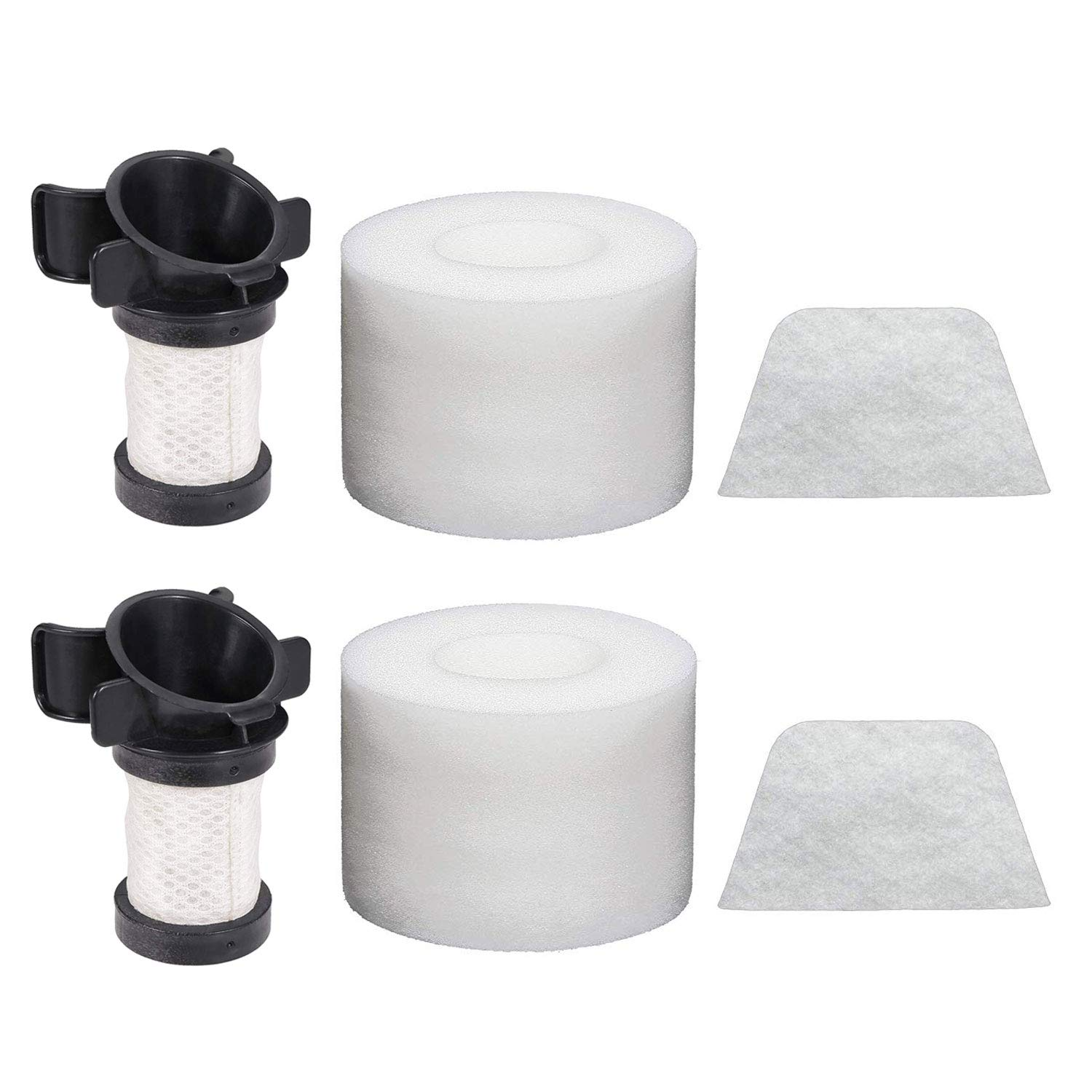 Extolife Replacement Filters for Shark ION Flex DuoClean X30 X40 F60 F80 IF200 IF201 IF202 IF205 IF251 IF252 IF281 IF282 IF285 UF280 IC205 IR70 IR100 IR101, 2Foam 2Felt 2Hepa, XPREMF100