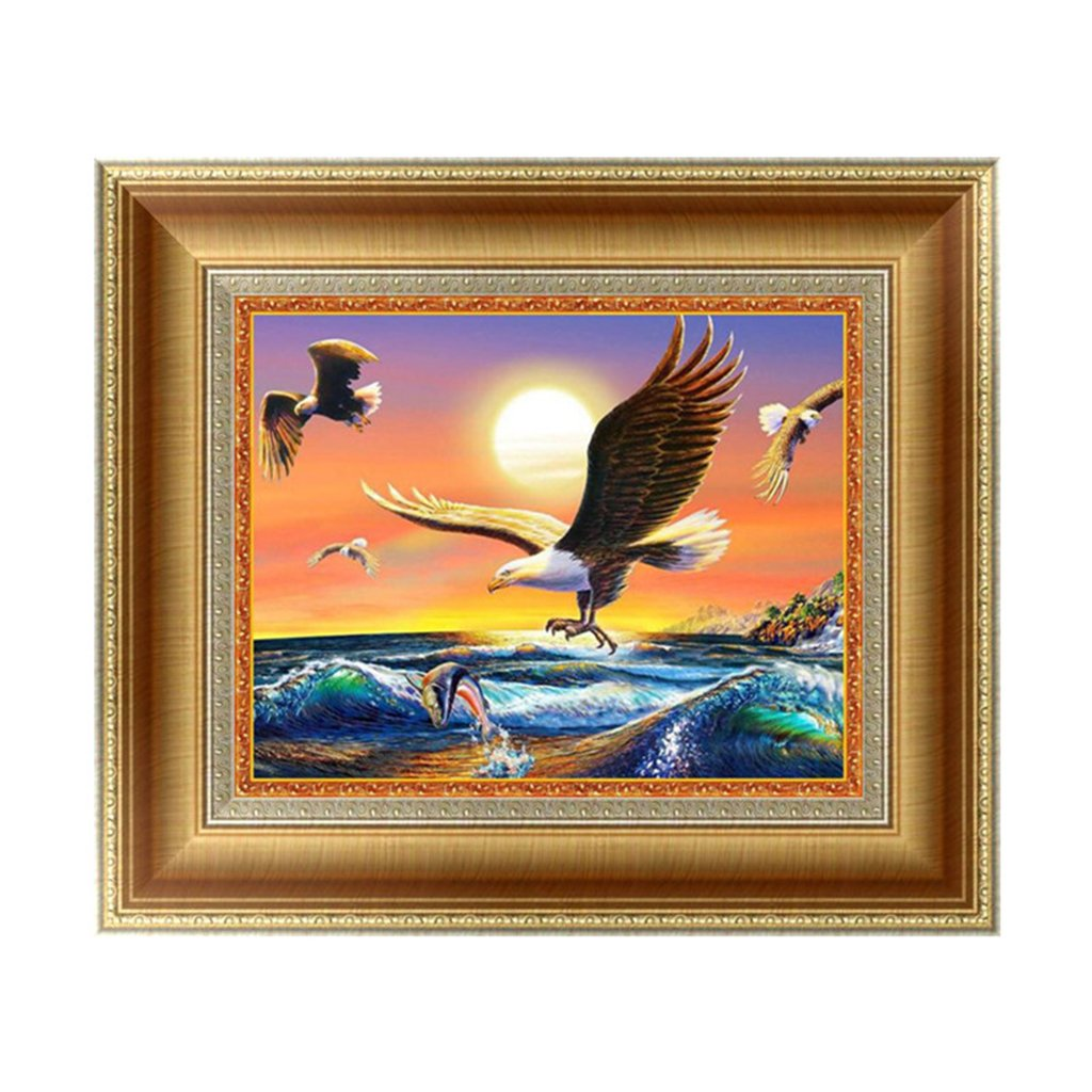 SCASTOE DIY 5D Diamond Embroidery Painting Eagle Cross Stitch Craft Home Decor   B0722LC5J5