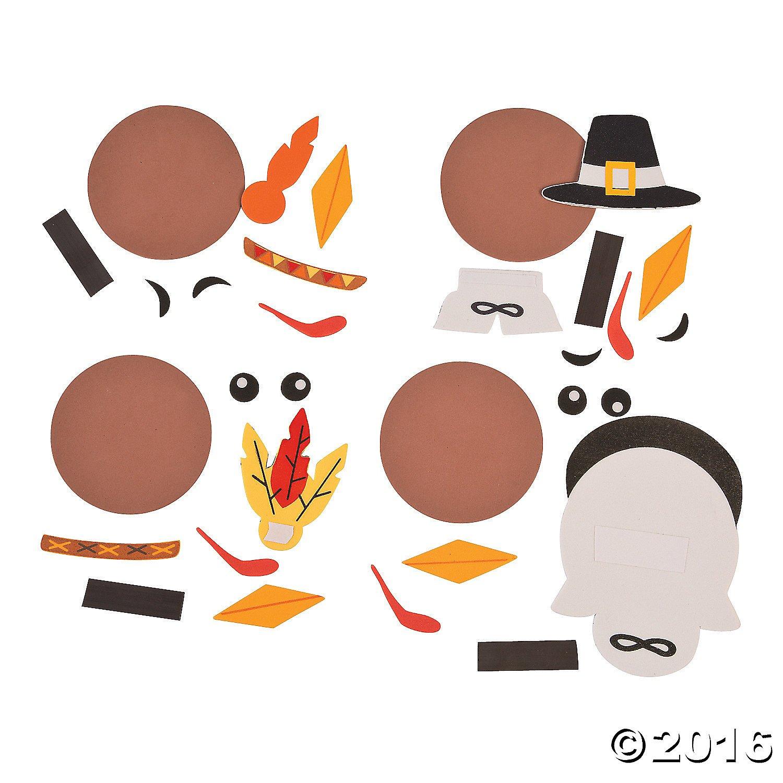 Makes 12 Thanksgiving FX Turkey Head Magnet Craft Kit