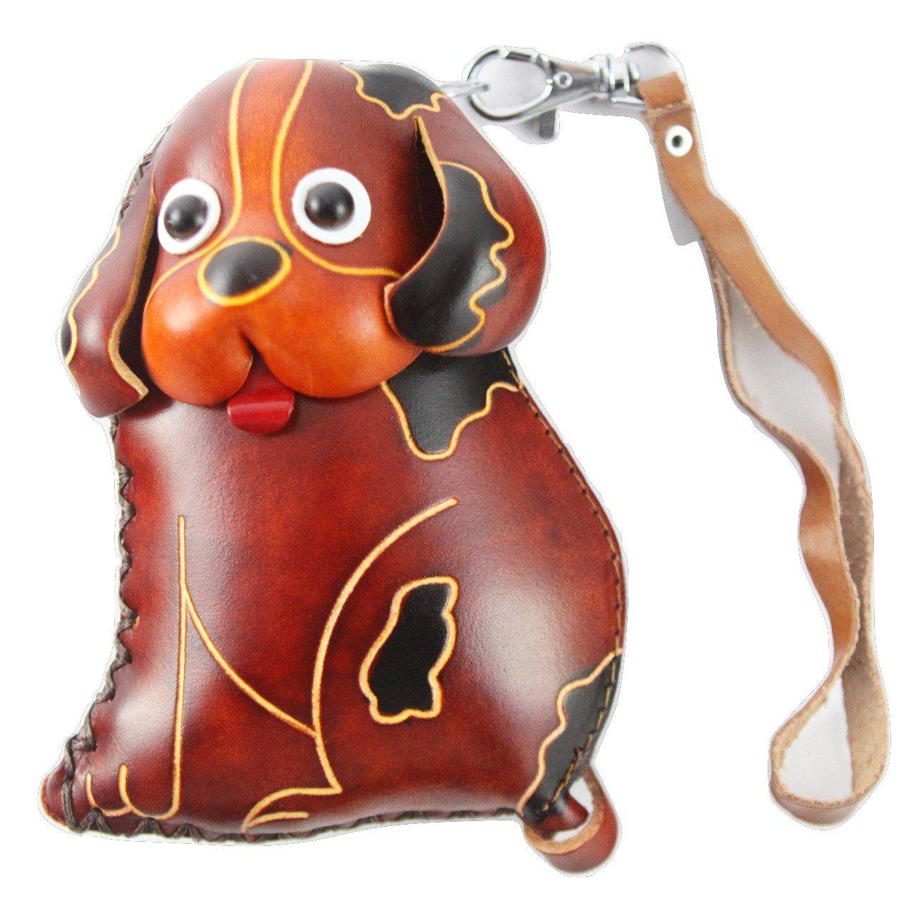 PurseWorld Women's Handmade Leather Dog Purse One Size Brown