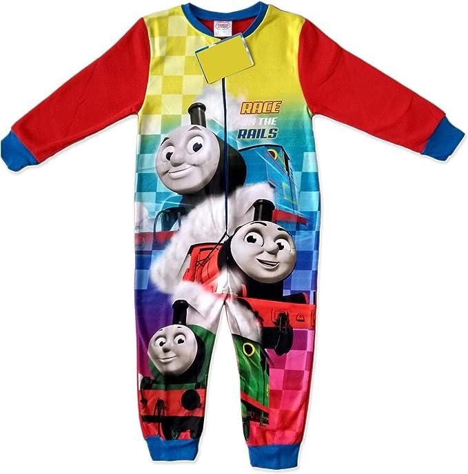 THOMAS THE TANK ENGINE Boys Super Soft Blue Pyjamas Sizes 18 Months 5 Years