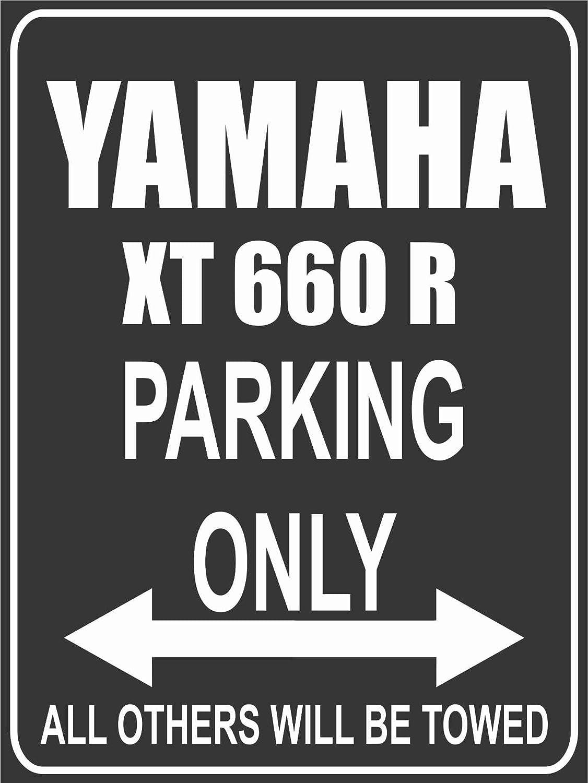 Parkplatz Yamaha XT 660 R Parking Only Parkplatzschild
