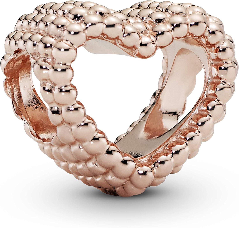 Pandora Jewelry Beaded Heart Pandora Rose Charm