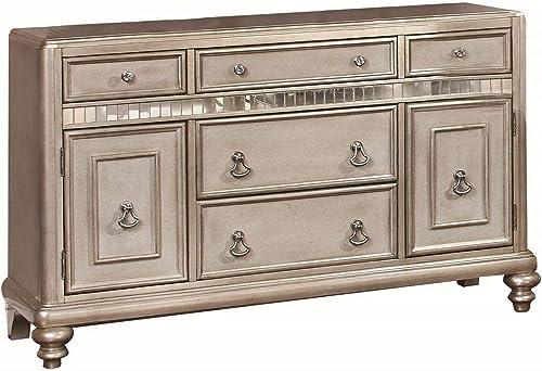 Bling Game 5-drawer Dining Server Metallic Platinum
