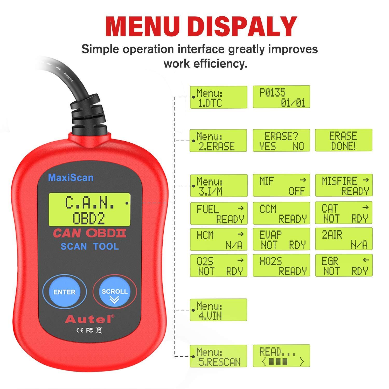 Versione Inglese Autel MS300 Universale OBD2 Auto Diagnostica Lettore di Codici di Errore Scanner per Auto