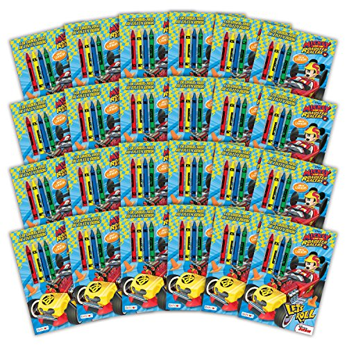 Bendon 43153-Amzb Mickey and the Roadster Racers Coloring and Activity Book with Crayons, 24Count