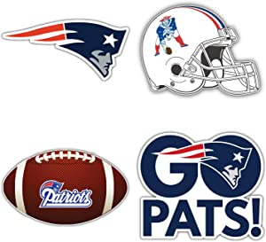 "New England Patriots Set of 4 NFL Football Decals 5"" Longer Side"