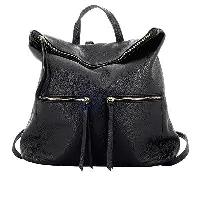 Tasche Aus Echtem Leder Für Damen Farbe Schwarz - Italienische Lederwaren - Damentasche Dream Leather Bags Made in Italy VZDhmqESUL