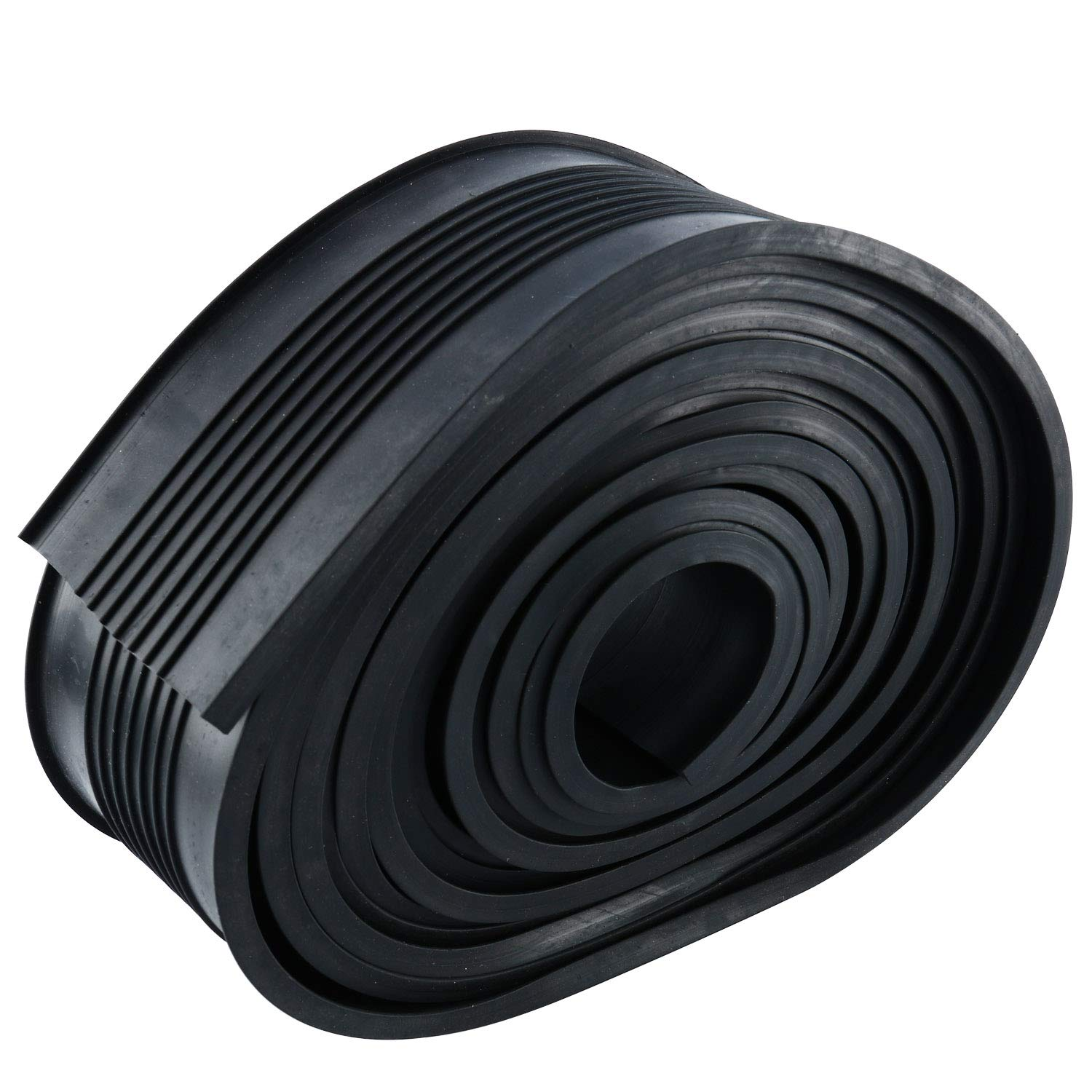 Homend Garage Door Bottom Weather Stripping Rubber Seal Strip Replacement, 5/16'' T Ends, 3 3/4'' Width X 20 Feet Lenth (Black) by Homend (Image #7)