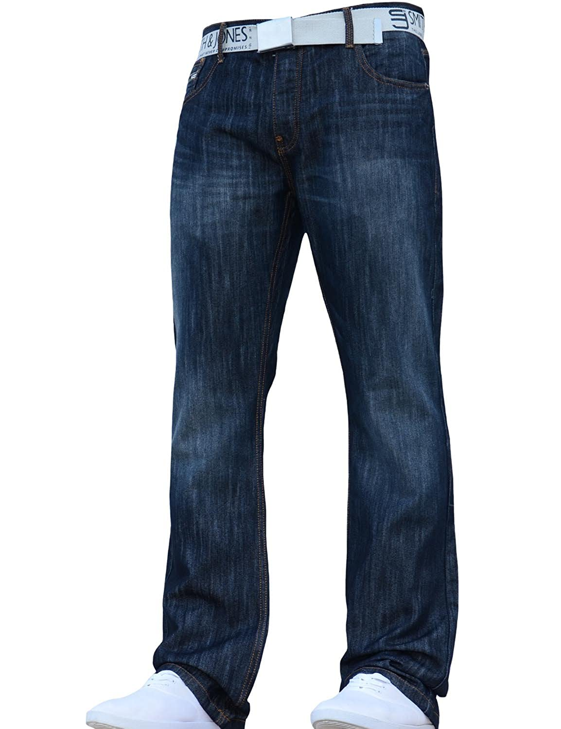 33a66288fc2 New Mens Smith and Jones Designer Branded Bootcut Fit Relaxed Denim Jeans  Pants Jeanbase  Amazon.co.uk  Clothing