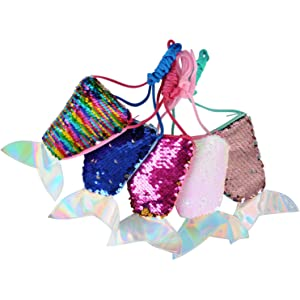 Amazon.com: SUSHAFEN - Bolsas de lentejuelas con forma de ...