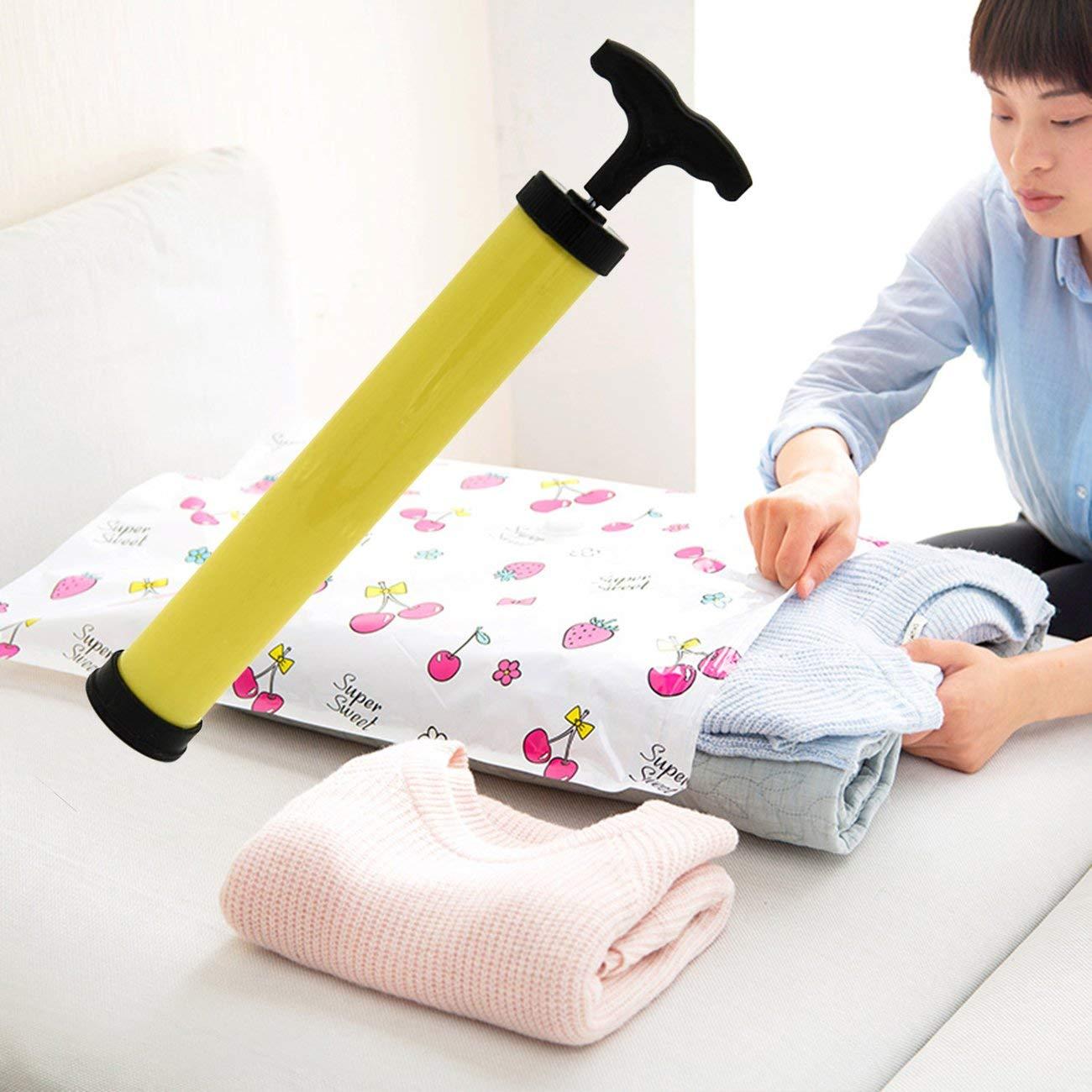 Panda Compact Size Manual Vacuum Bag Space Saver Saving Seal Compressed Storage Bag Pump Compact Hand Air Vacuum Pump
