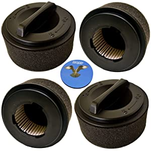 HQRP 4-Pack Inner & Outer Circular Filter Set for Bissell Easy Vac 203-7593 23T7 23T74 23T77 23T7E 23T7F 23T7G 23T7K 23T7P 23T7P 23T7Q 23T7T 23T7U 23T7W 23T7Y Vac Vacuum Cleaner + Coaster