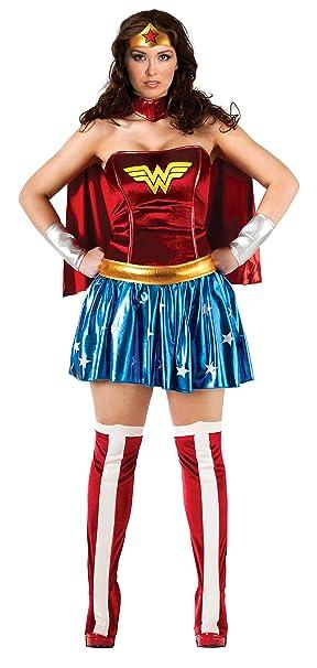 Rubbies - Disfraz de superhéroe para mujer, tamaño único