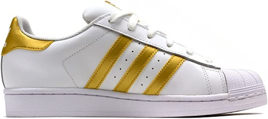 ADIDAS SNEAKERS SUPERSTAR BIANCO ORO BY8757 41 1 3, BIANCO