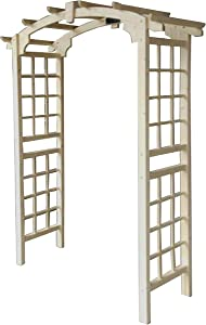 ALEKO Outdoor Wooden Garden Arbor with Trellis Sides for Climbing Plants