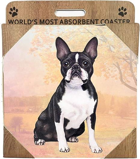E S Imports Ceramic Coaster Boston Terrier 1 Coasters