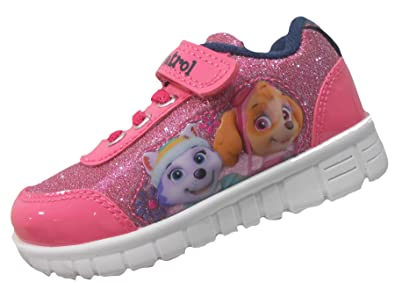 GIRLS GLITTERING SPORTS TEXTILE TRAINER RUNNING LACE UP CAUSAL CHILDREN SHOES UK