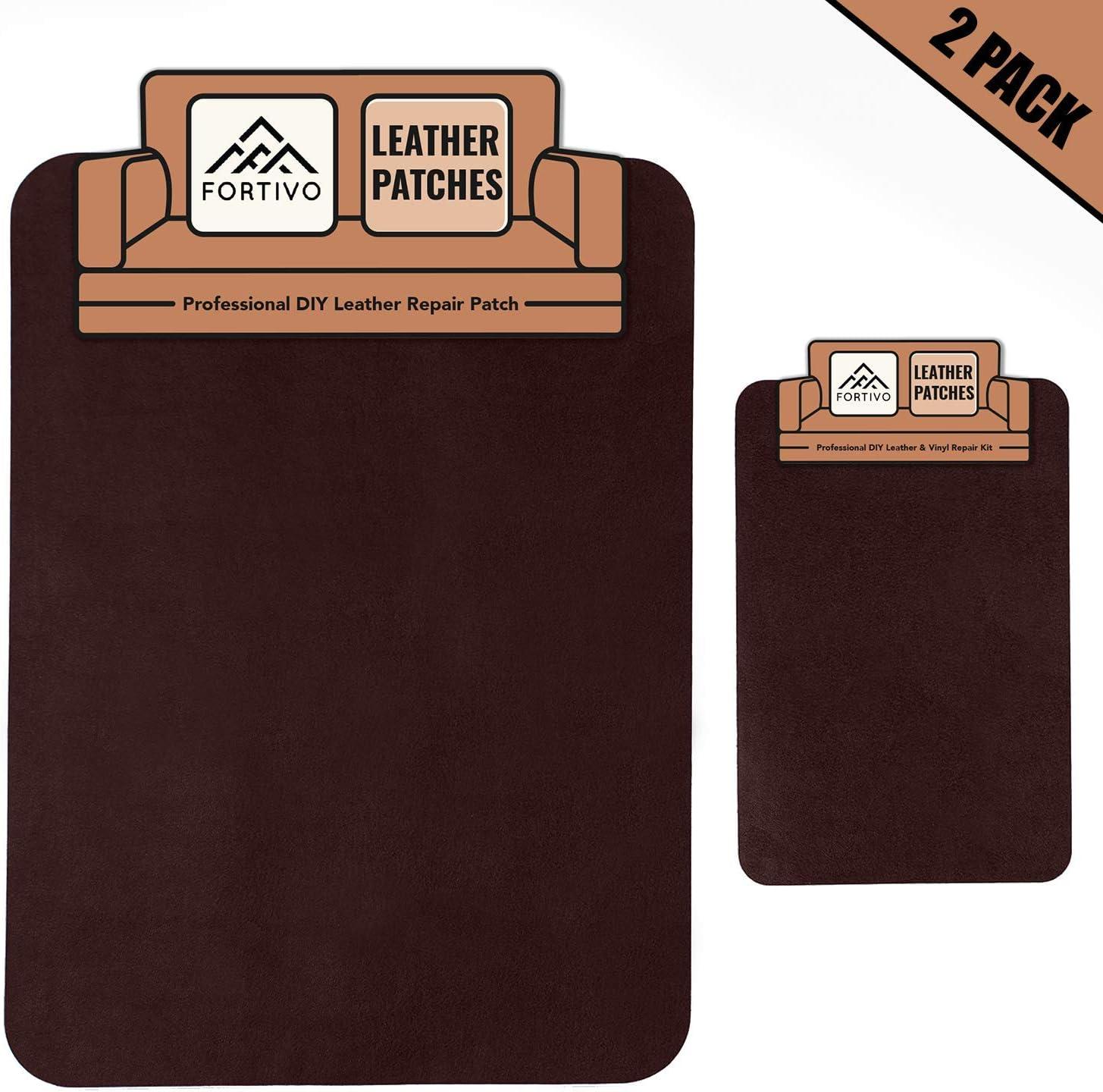 FORTIVO - Dark Brown Leather Repair Kits for Couches, Leather Repair Patch, Vinyl Repair Kit