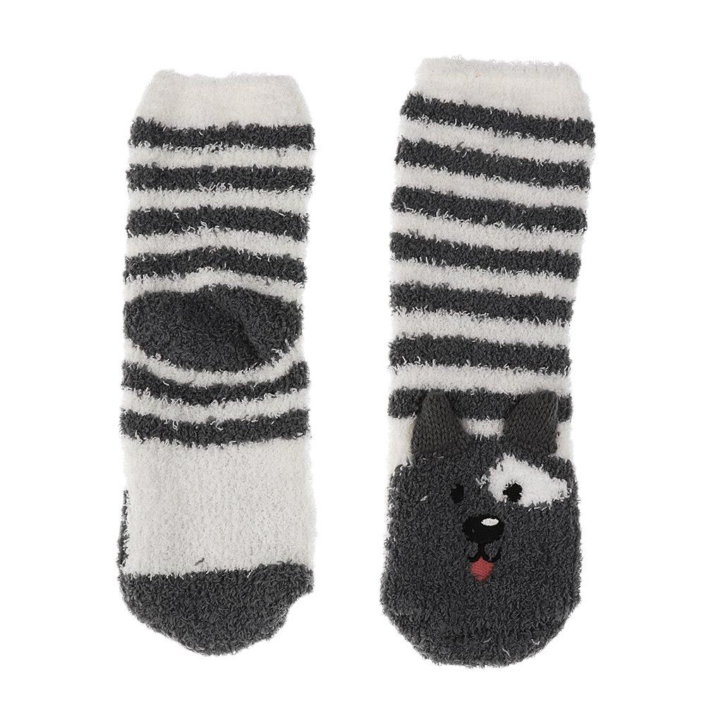 Sharplace Erwachsene Mädchen Set Box Santa Fleece Slipper Socken ...