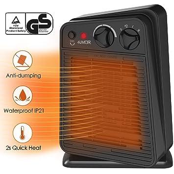 4UMOR Radiateur Ventilateur Soufflant Cramique Oscillant Economie Energie 2s Chauffage Rapide D