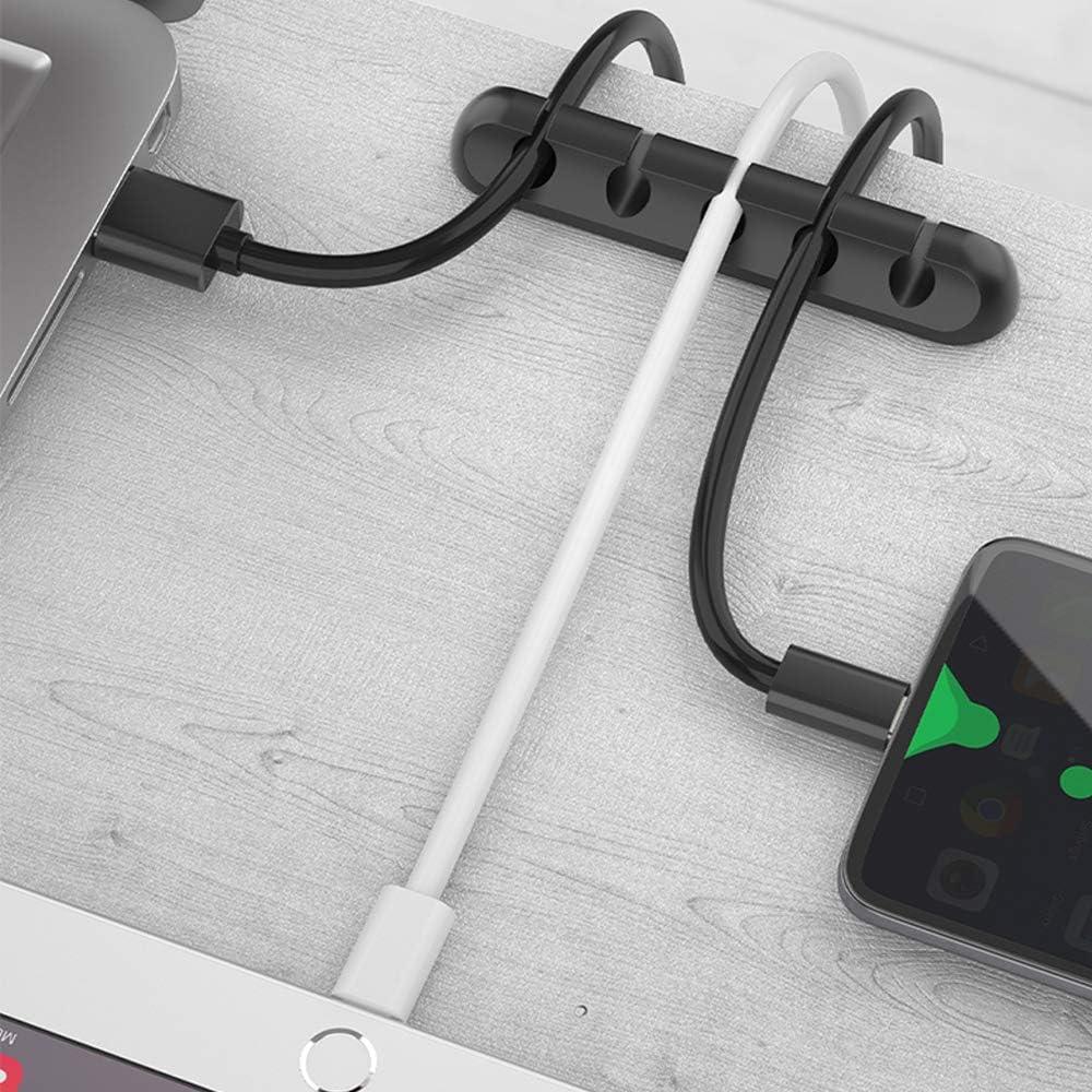 c/âbles de chargement au bureau et /à la maison Lot de 3 clips de fixation pour c/âble de chargement USB c/âbles dalimentation