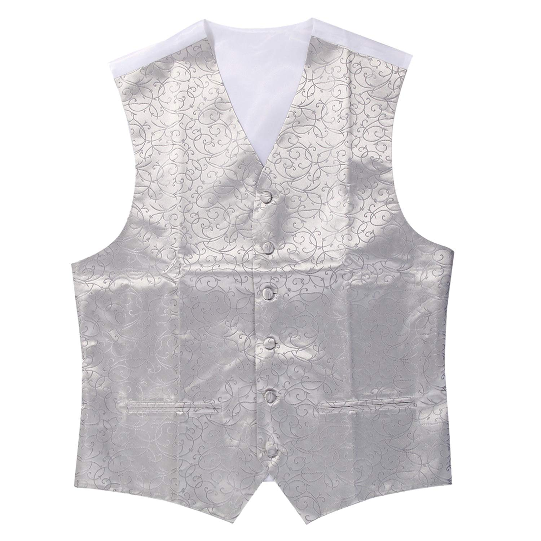 Hot New Mens Top Swirl Wedding Waistcoat Vest