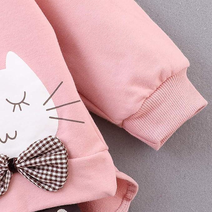 Baywell Baby M/ädchen Langarm Pullover Gestreifte Prinzessin Hemd Kleid Kinderkleidung