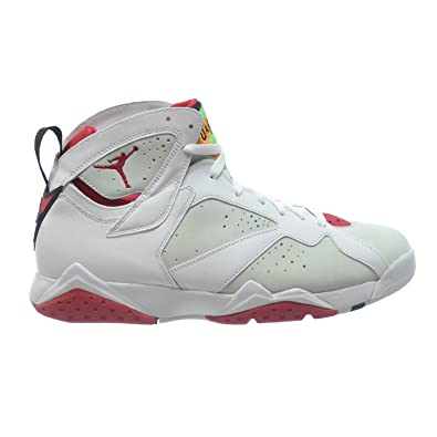 b427e29f96f3 Jordan Air 7 Retro Hare Men s Shoes White True Red-Light Silver 304775-