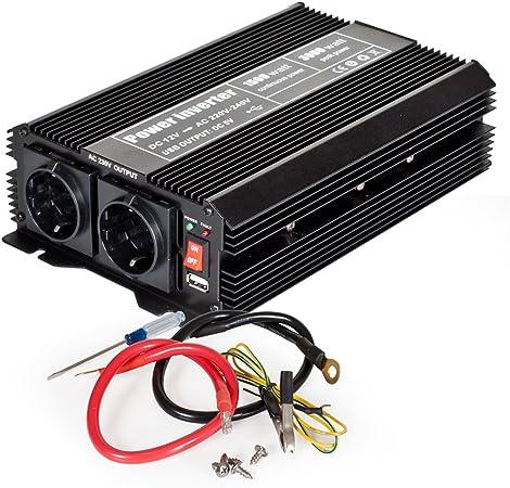 Tectake 800115 Spannungswandler Wechselrichter Inverter Elektronik