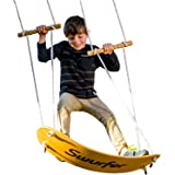 Swurfer the Original Stand Up Surfing Swing - Curved Maple Wood Board To Easily Surf The Air