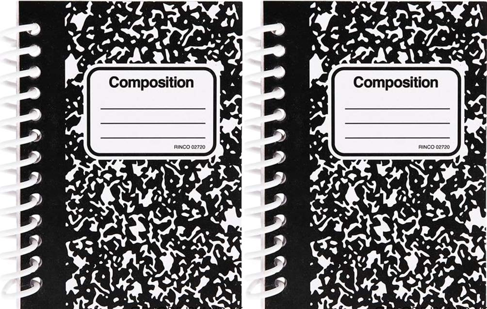 Black & White Mini composition notebooks -24 pack- 2.5 X 3.5
