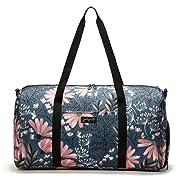 Jadyn B 22  Women's Weekender Duffel Bag with Shoe Pocket, Navy Floral