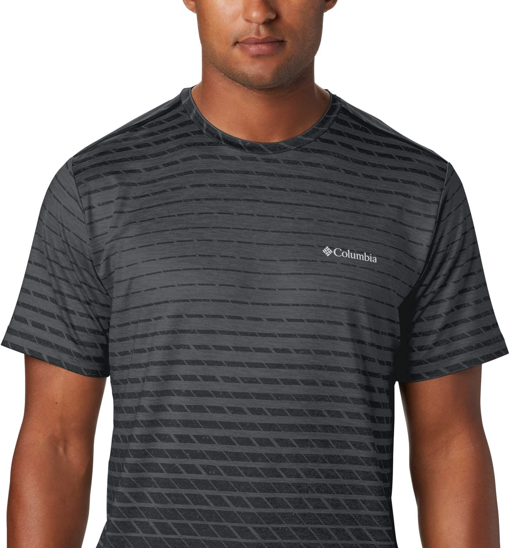 Columbia Herren Tech Trail Aufdruck Kurz/ärmeliges T-Shirt
