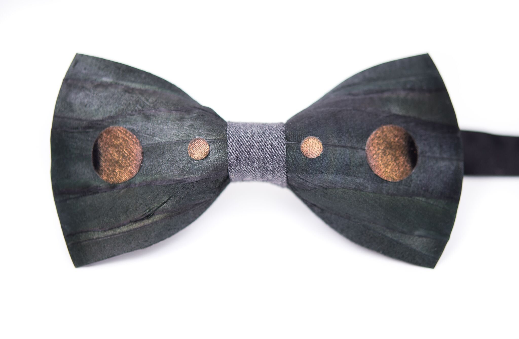 Brackish Morgan Eastern Turkey and Rooster Feather Mens Bow Tie (BRK-195)