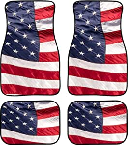 American Flag 'Keep On Truckin' Mats 1//24-1//25 Scale Model Car Floor Mats
