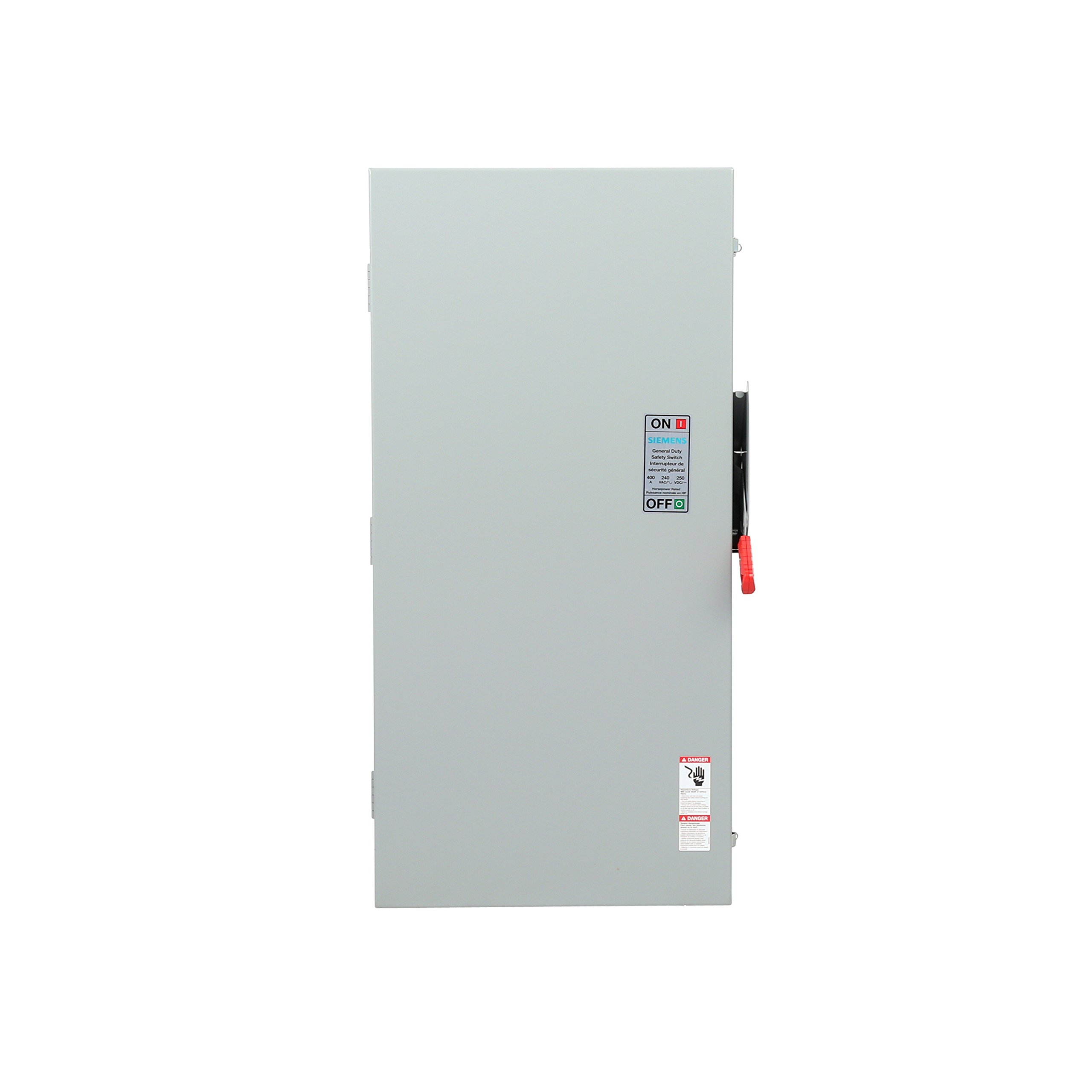 Siemens GF225NA General Duty SAFETY Switch, Fusible, 2 Pole, 240 Volt, 400 Amp, Indoor Rated