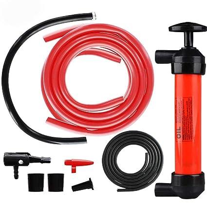 DEDC Kit de Bomba Extractora de Aceite Bomba Manual de Coche para Inflar Extraer Gasolina Líquido Aceite Diésel Agua Máquina de Césped Desbrozadora ...