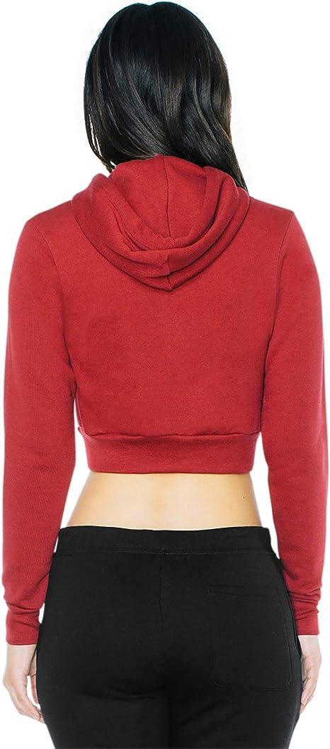 American Apparel Womens//Ladies Flex Fleece Cropped Hoodie 5 Colours RW4026